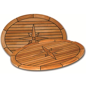 Bordplate, Nautic Star, oval 44 x 60 cm