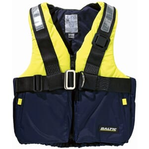 Offshore m/harness, blå/gul, M - Baltic