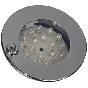 Downlight, LED m/bryter, krom