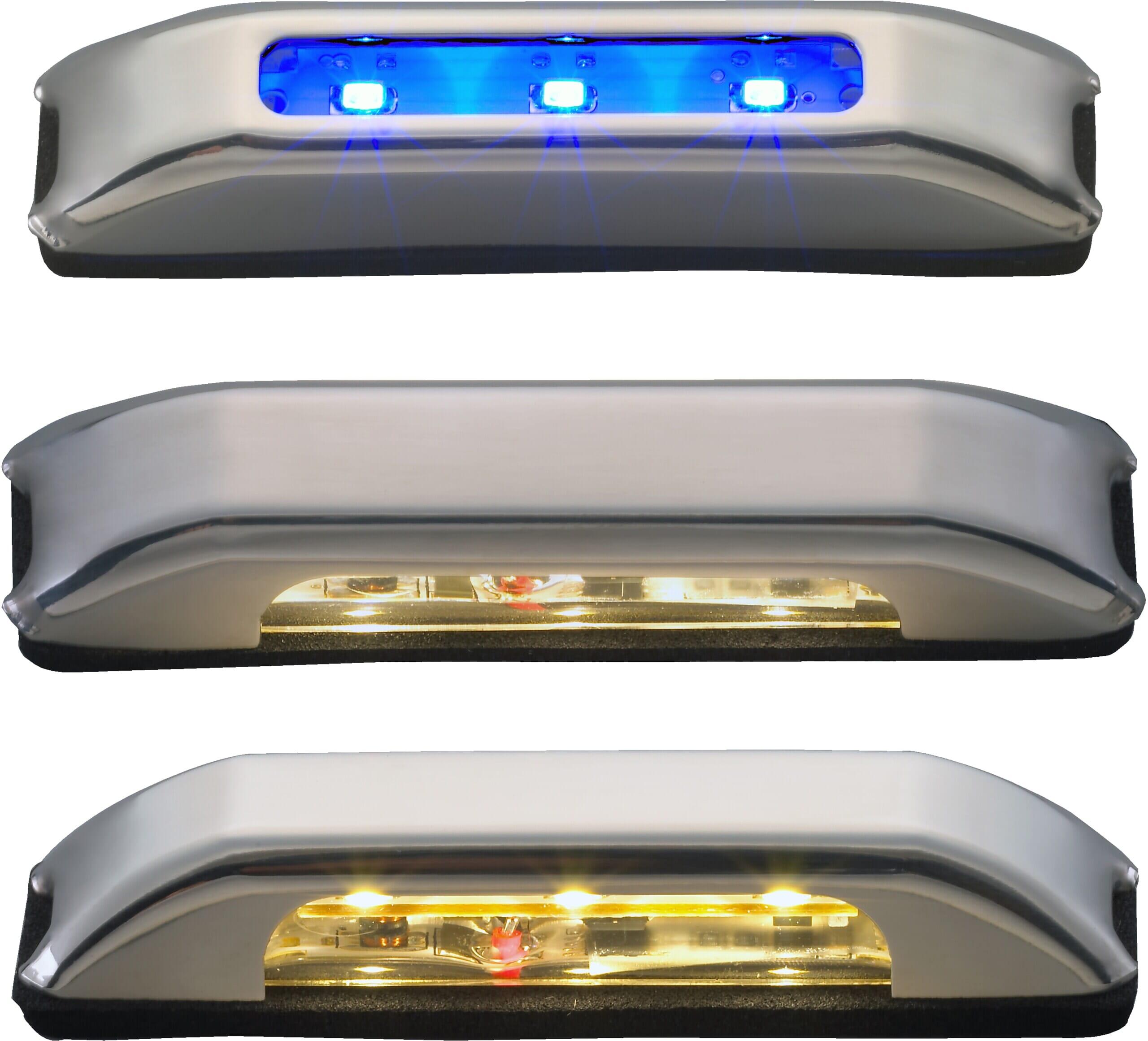 Kupèlys LED, rustfritt stål, IP 67, 180 grader Eurofritid