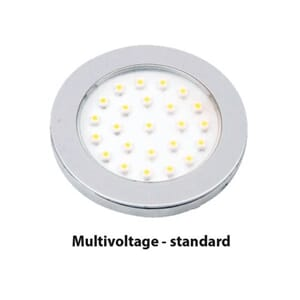 LED Downlight innfell. 10-30V 170lm varmhvit