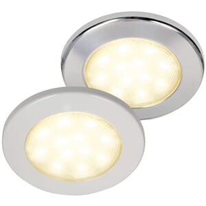Euroled Downlight, 95 mm, polert stål - Hella